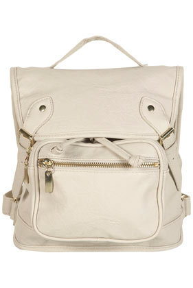 Cream Buckle Backpack - Backpacks - Bags & Wallets - Accessories - Topshop USA