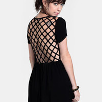 Paranoid Cage Back Dress By Evil Twin