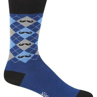 Men's Argyle Mustache Socks - Crew Socks by Sock it To Me - Whimsical & Unique Gift Ideas for the Coolest Gift Givers