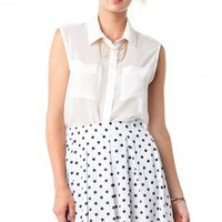 Hot Spot Skirt in White - ShopSosie.com