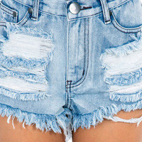 Melrose High Waisted Denim Shorts $33