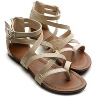 Amazon.com: Ollio Womens Gladiator Sandals Buckle Ankle Strap Thong Shoes: Shoes