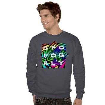 Trippy Crew Sweatshirt from Zazzle.com