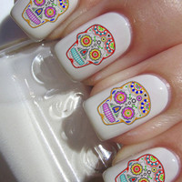 Sugar Skull Nail Decals 36 Ct.