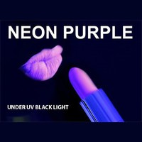 PURPLE / VIOLET Neon Black Light UV Lipstick, Cream Stick, Rave Lipstick