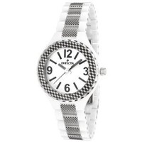 Invicta Women&#x27;s 1158 Ceramics Collection White Dial Ceramic Watch: Invicta: Watches