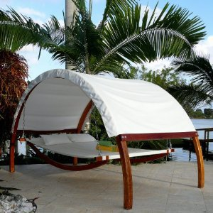 The Le spa CASABLANCA Hammock Lounge for two, perfect for residential and hospitality use
