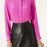 Longsleeve Silk Pleat Shirt - New In This Week  - New In