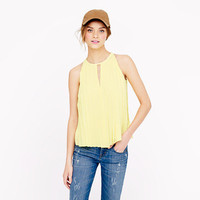 Pleated chiffon top - sleeveless - Women's shirts & tops - J.Crew