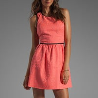 Parker Channing Floral Dress in Grapefruit Combo from REVOLVEclothing.com