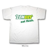 Halloween Zombies, eat flesh, Subway T-Shirt (Small - 4XL) 100% Cotton