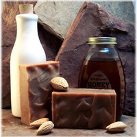 Goatmilk Honey Handmade Soap with Cherry Almond Fragrance | Soapsmith - Bath & Beauty on ArtFire