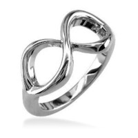 Infinity Ring in Sterling Silver