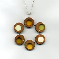 n 6 circle lichen necklace by modica on Etsy