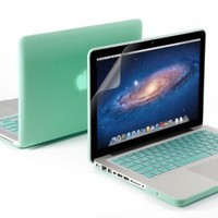 "Amazon.com: GMYLE(R) 3 in 1 Robin Egg Blue Turquoise Matte Rubber Coated See-Thru Hard Case Cover for Aluminum Unibody 13.3"" inches Macbook Pro - with Robin Egg Blue Turquoise Silicon Keyboard Protector - 13 inches Clear LCD Screen Protector -: Computers &"
