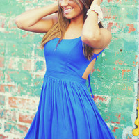 RESTOCK Feeling Fabulous Dress: Royal Blue | Hope's