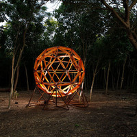 Geodesic Sphere Treehouse/Back Yard Deck