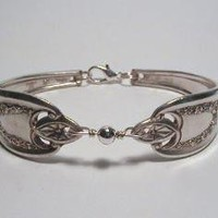 Silver Spoon Bracelet Recycled Silverware Bold by LTCreatesJewelry