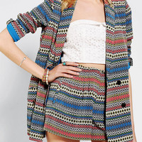 Urban Outfitters - Lazy Twins Patterned Boyfriend Blazer