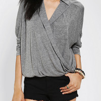Urban Outfitters - Sparkle & Fade Surplice Collared Shirt