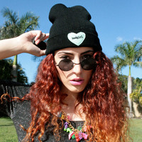 The Bad Girl Beanie  90s Pop Grunge Hat by PIXIEandPIXIER on Etsy