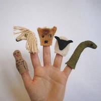 Scottish Highlands Finger Puppets by babyanimals on Etsy