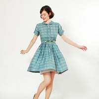 50s Cotton Dress - 1950s Dress - The Kaleidoscope Dress