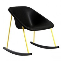 Kola light rocking chair, black-yellow