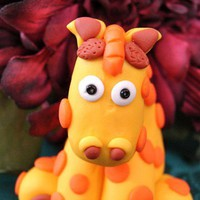 Geoffrey the GIRAFFE Whimsical Polymer Clay by KatersAcres on Etsy