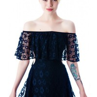 For Love & Lemons Tender Heart Lace Cutout Dress | Dolls Kill
