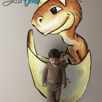 Vinyl Wall Decal Sticker Baby Dinosaur Hatchling Color JH202s | stickerbrand - Housewares on ArtFire