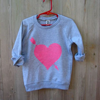 you're my favorite Heart Sweater for Girls, Heart Shirt, Valentine's DAy, 2T- 12Yrs