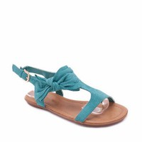 bow design suede sandal $13.60 in TEAL - Sandals | GoJane.com