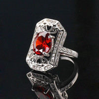 925 Sterling Silver Zircon Shield Ring at Online Jewelry Store Gofavor