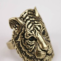 tiger face ring $6.90 in GOLD - Rings | GoJane.com