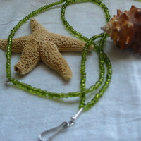 Olive Green Lanyard by PattysDreamDesigns on Etsy