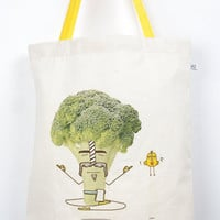 SupaVeg Holy Broccoli Art Tote Bag
