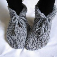 NEW SEASON Grey Slippers Socks ETSY Free Shipping by denizgunes