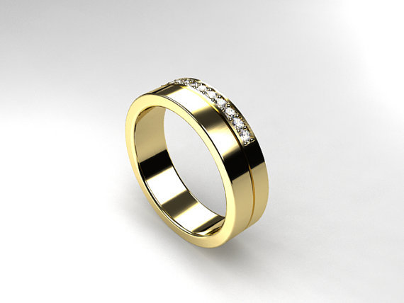 wedding band white gold yellow from