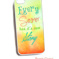 iPhone 5 Case iPhone 44s Case Every Summer has its own story Ships from USA