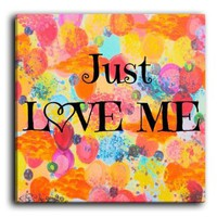 Amazon.com: DiaNoche Designs FREE SHIPPING Canvas Wall Art Home Decor Ideas - Just Love Me: Arts, Crafts & Sewing