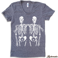 Womens SKELETONS T-Shirt american apparel S M L XL (17 Color Options)