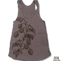 Womens HOPS american apparel Tri-Blend Racerback Tank Top S M L (8 Color Options)