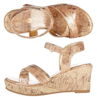 Payless, Girls' Cork Wedge Sandal, Girls, Sandals