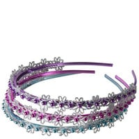 Girls - Minicci Girl - Girls' (3 pk) Sparkle Flower Headbands - Payless Shoes