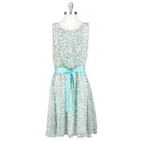 Jessica Howard Dotted Chiffon Dress with Belt at Von Maur