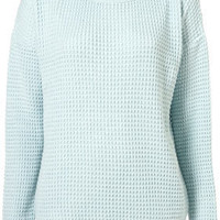 Knitted Textured Grunge Jumper - Knitwear - Apparel - Topshop USA