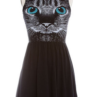 Whimsical Whiskers Jersey Dress