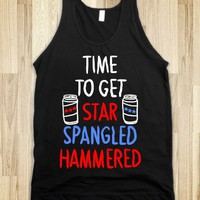TIME TO GET STAR SPANGLED HAMMERED ( RED, WHITE, BLUE) - SWEET TANKS - Skreened T-shirts, Organic Shirts, Hoodies, Kids Tees, Baby One-Pieces and Tote Bags