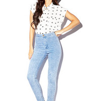 High-Waisted Stonewashed Skinny Jeans | FOREVER 21 - 2002246109